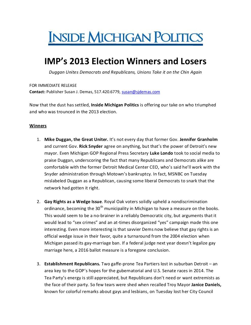 IMP 2013 election winners and losers.pdf - page 1/2