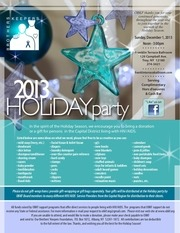 2013 holiday party flyer