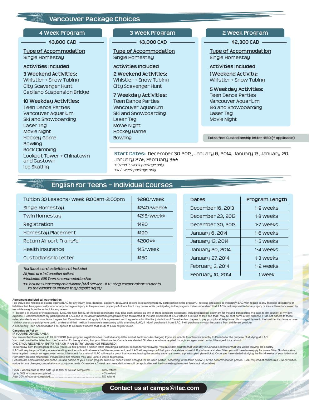 Document preview Winter English for Teenagers Flyer-2013-2014-LR.pdf - page 2/2