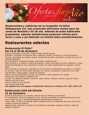 habaguanex restaurantes ofertas de fin de ano