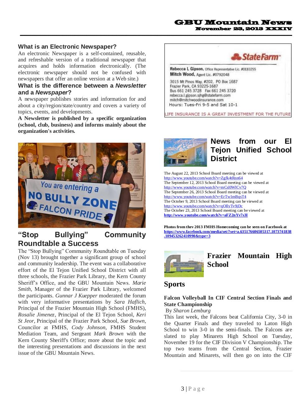 GBU Mountain News XXXIV - Nov 23, 2013.pdf - page 3/22