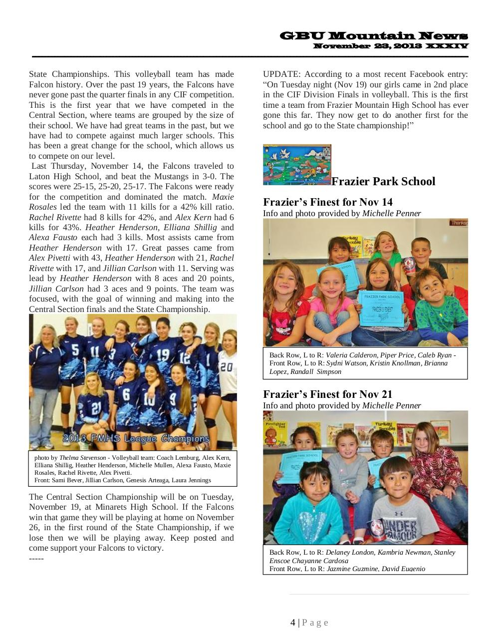GBU Mountain News XXXIV - Nov 23, 2013.pdf - page 4/22
