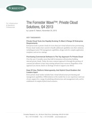the forrester wave private cloud solutions q4 2013