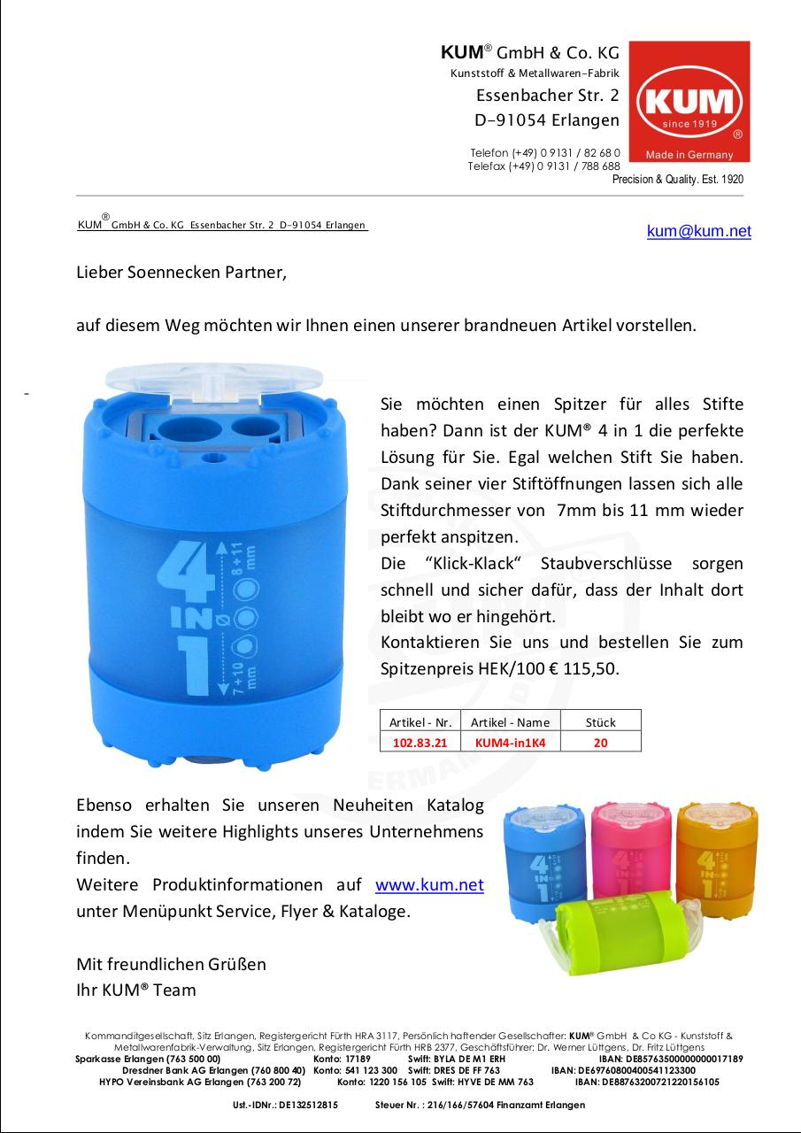 Document preview Anschreiben Soennecken Verband 4 in 1.pdf - page 1/1