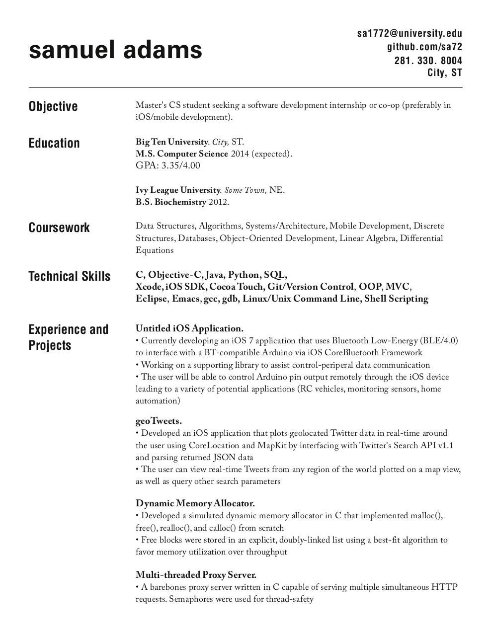 report spam or adult content - Computer Science Co Op Resume