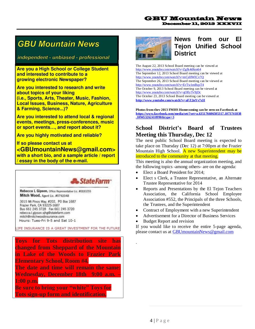GBU Mountain News XXXVII - Dec 12, 2013.pdf - page 4/27