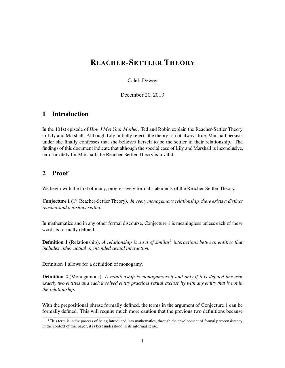 Document preview Reacher-Settler Theory.pdf - page 1/5