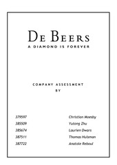 christian moesby de beers company assessment