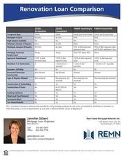 renovation loan comparison