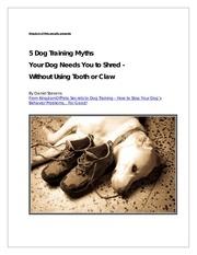 5 dogtrainingmyths