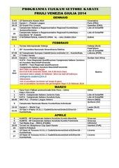 calendario regionale nazionale 2014