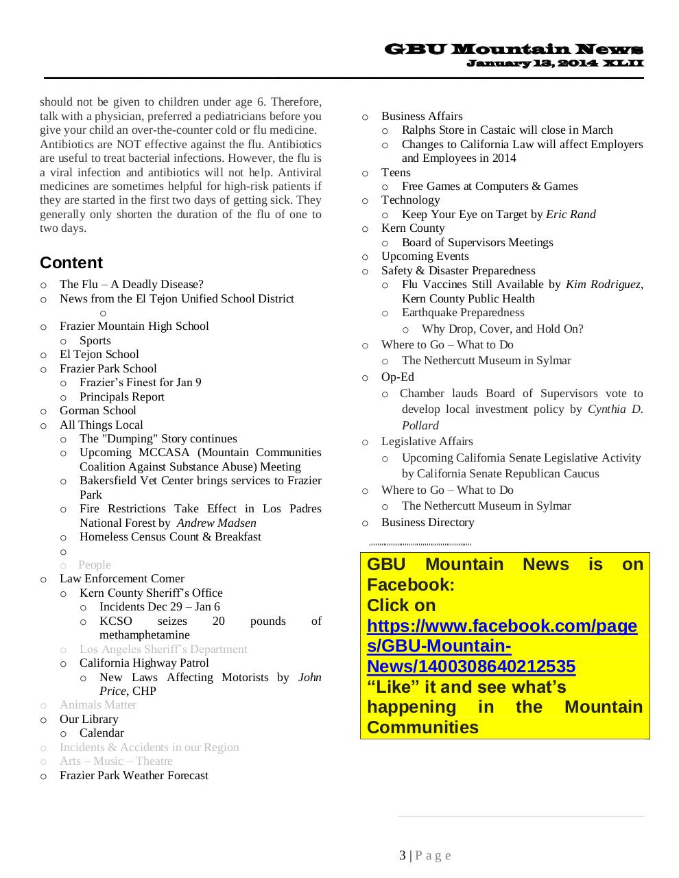 GBU Mountain News XLII - Jan 13, 2014.pdf - page 3/28