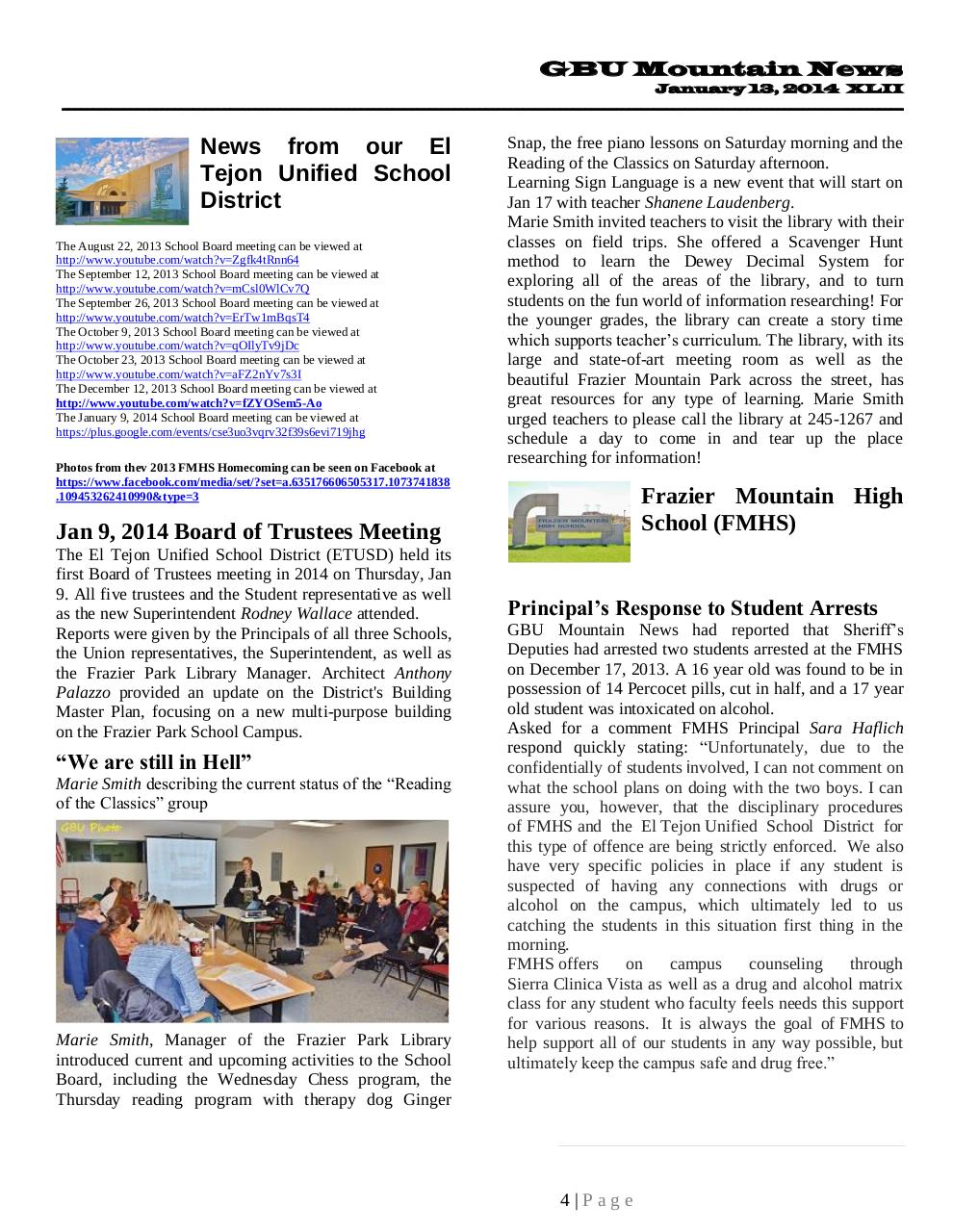 GBU Mountain News XLII - Jan 13, 2014.pdf - page 4/28
