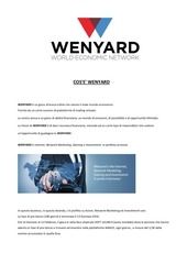 cos e wenyard soft launch