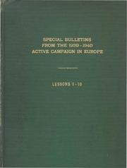 special bulletins 1939 1940
