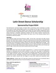2014 latin street dance scholarship application