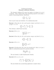 day 10 binomial coefficient identities