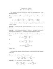 day 13 binomial theorem
