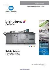 folder bizhub pro c6500e