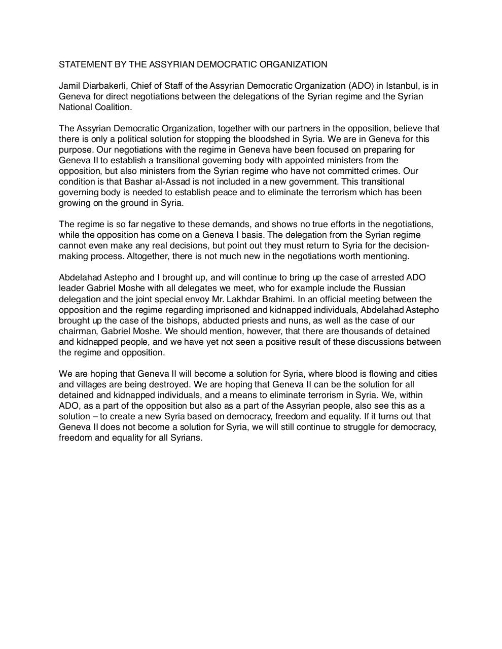 Document preview STATEMENT BY THE ASSYRIAN DEMOCRATIC ORGANIZATION.pdf - page 1/1