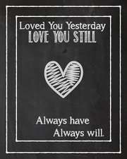love you always chalk 8x10