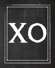 xo chalk 8x10