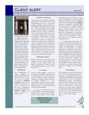 PDF Document client alert newsletter