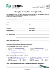 tesa trainings 2014 subscription form