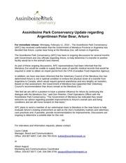 update on argentinean polar bear arturo feb 11