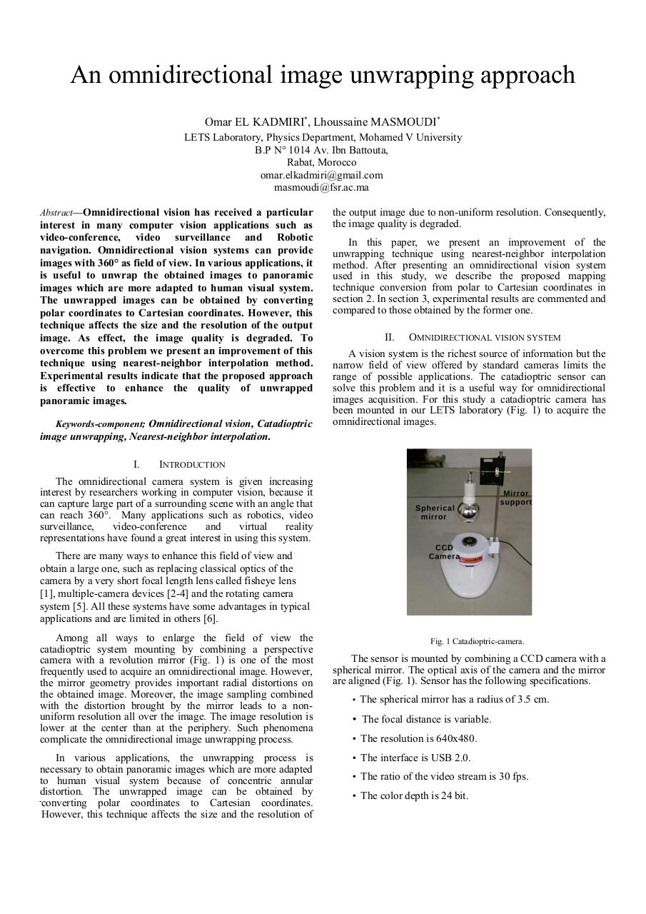 Document preview An omnidirectional image unwrapping approach ID221.pdf - page 1/4