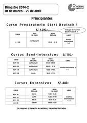 horarios programados 2014 2