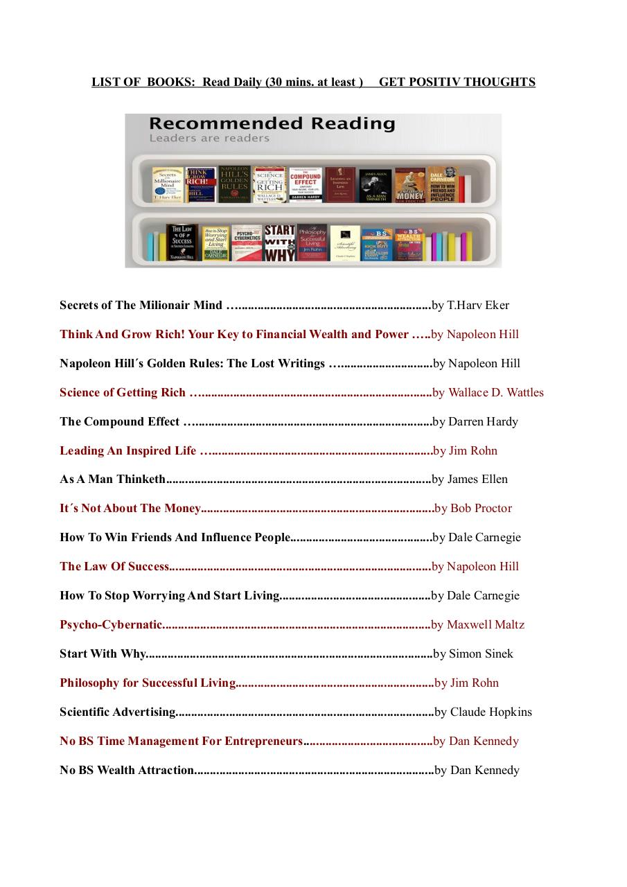 List of Recomended Books.pdf - page 1/2