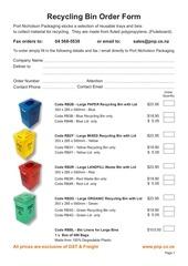 PDF Document recycling bin order form 2013
