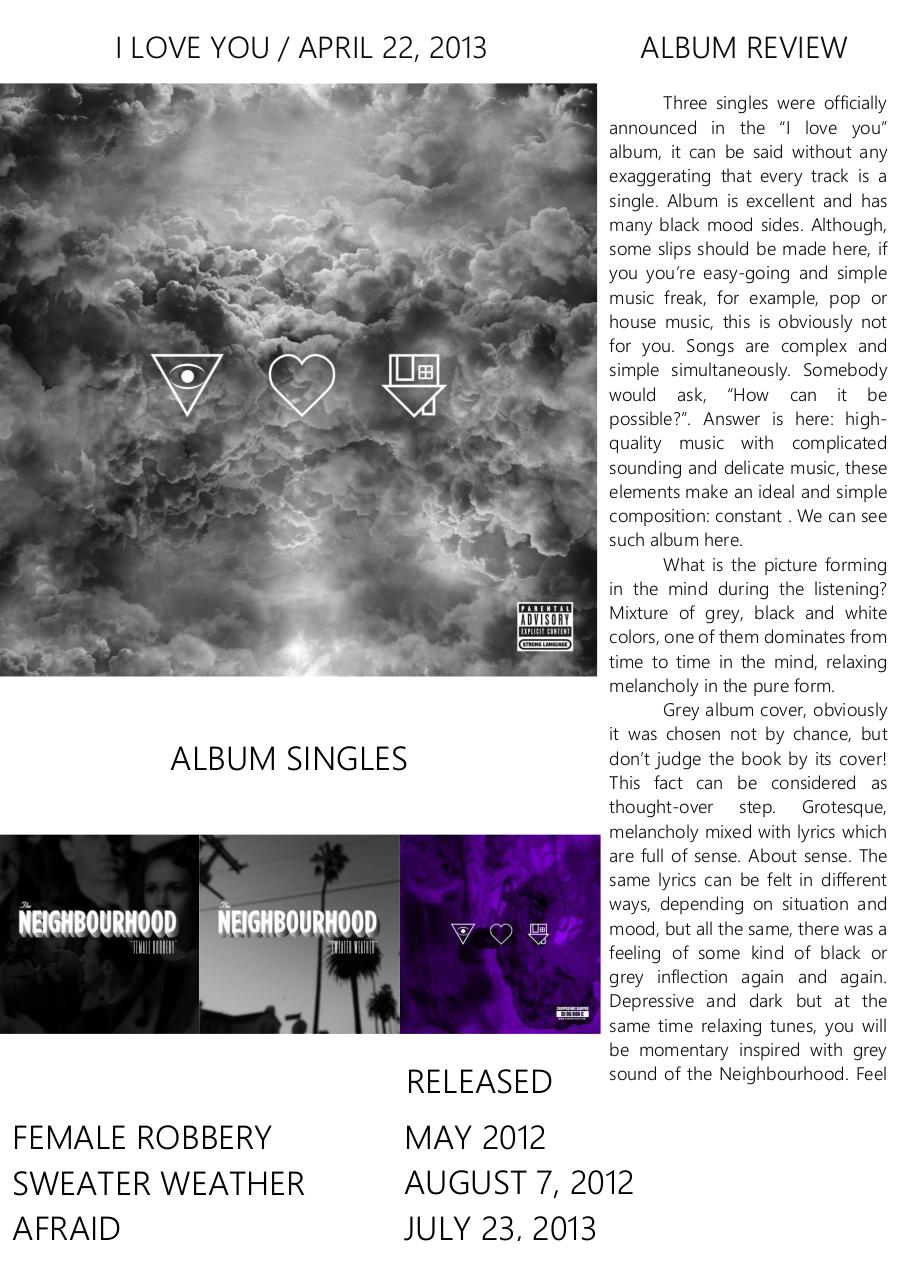 The Neighbourhood. I Love You Album Review.pdf - page 2/3