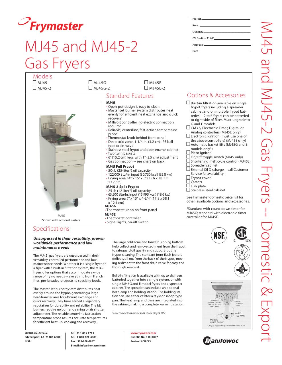 Document preview MJ45_specsheet_6-18-13.pdf - page 1/2