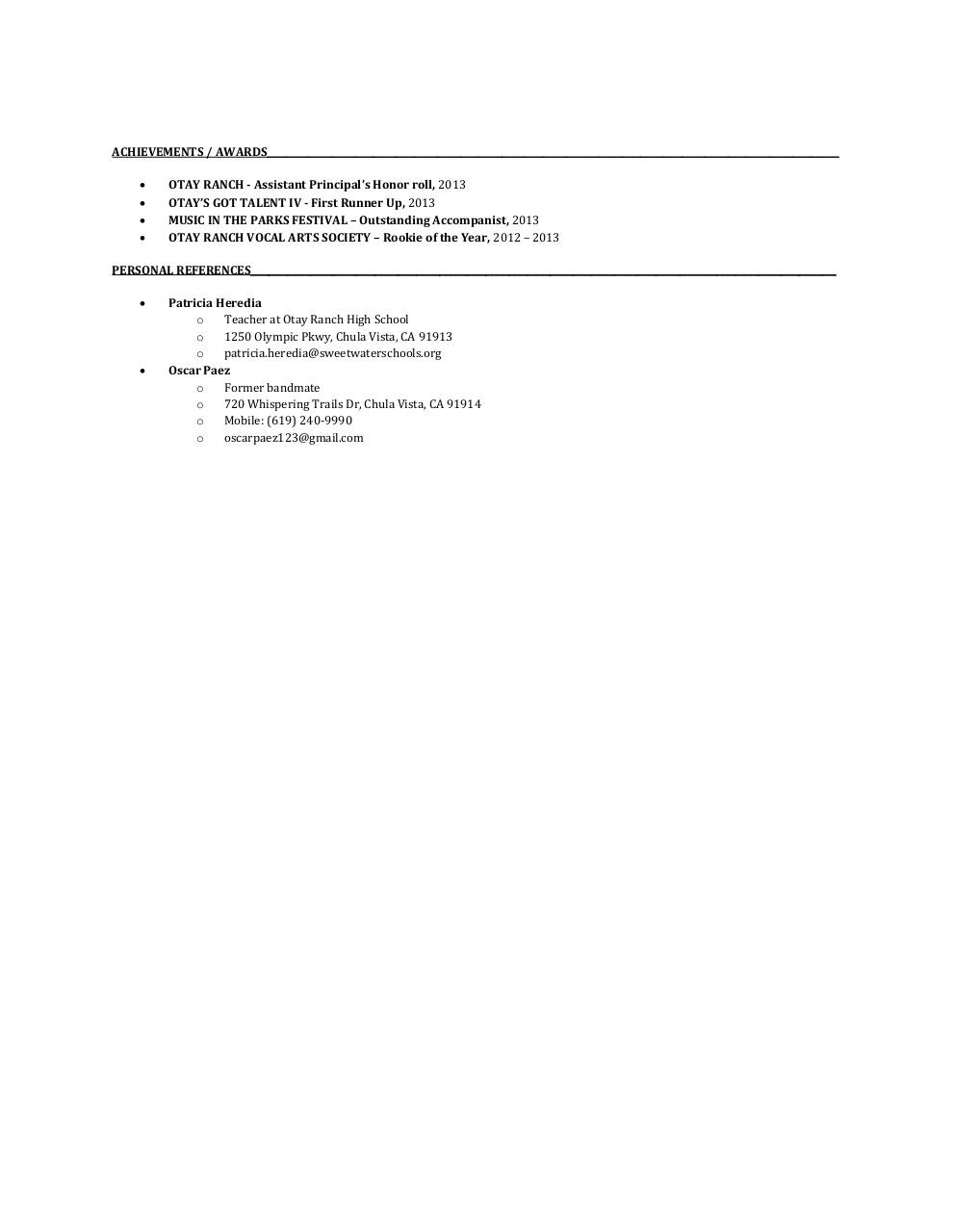 Document preview RESUME.pdf - page 2/2