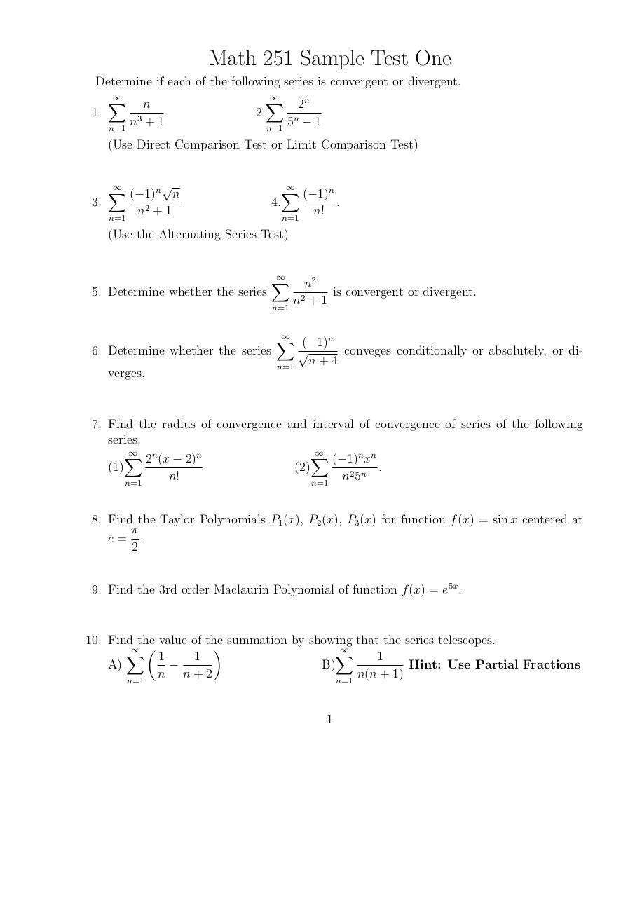 Document preview Math 251 Sample Test 1.pdf - page 1/1