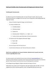 PDF Document guid internes forum