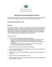 fan regional coordinator job description march 2014