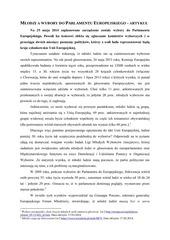 PDF Document m odzi a wybory do parlamentu europejskiego artyku