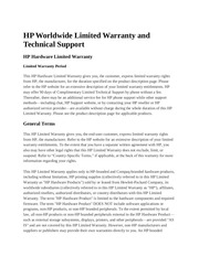 hp limited warranty