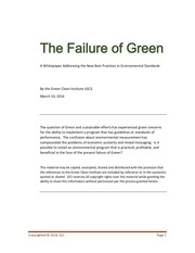 the failure of green