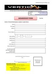 vam membership form