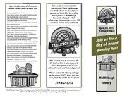 tabletop brochure