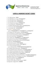 PDF Document android secret codes