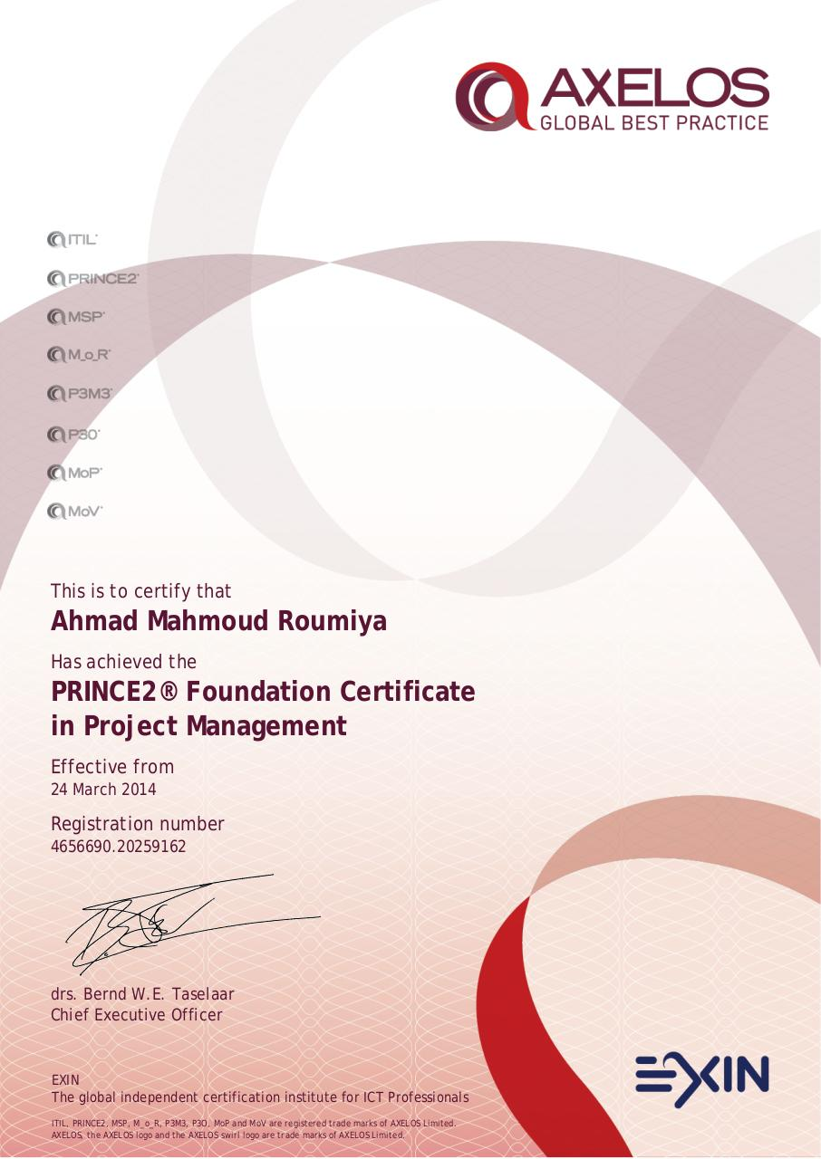 Prince2 Foundation Certificate In Project Management Pdf Archive