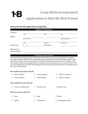 crazy bitch incorporated application to date my best friend
