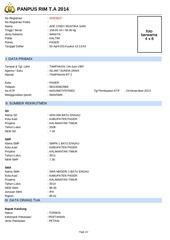 keterangan pendaftar 20303627 ade cindy mustika sari