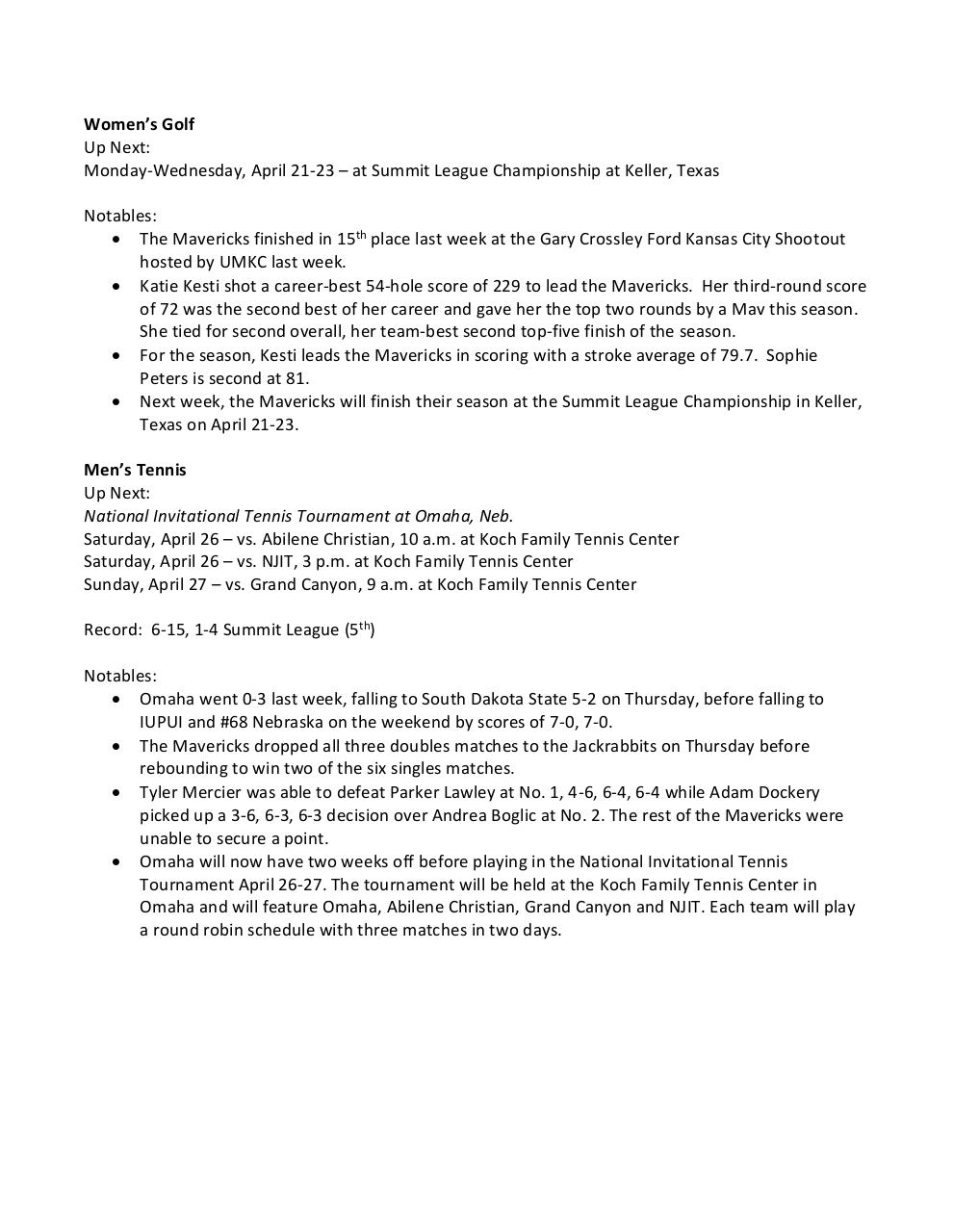 Document preview This Week in Maverick Athletics 4-14-14.pdf - page 3/4