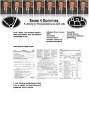 taxes 4 dummiez